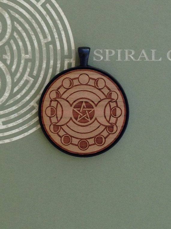 Goddess Moon Cycle with Pentagram  Laser by SpiralCutStudio