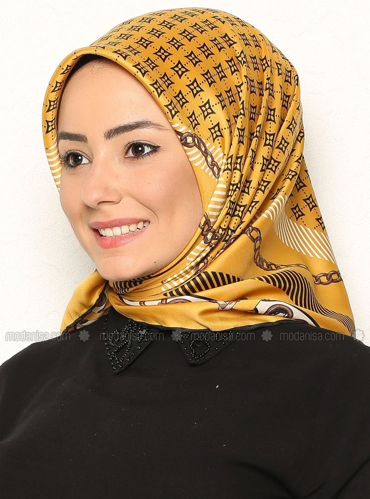 Patterned Scarf - Yellow - Anna Lucci