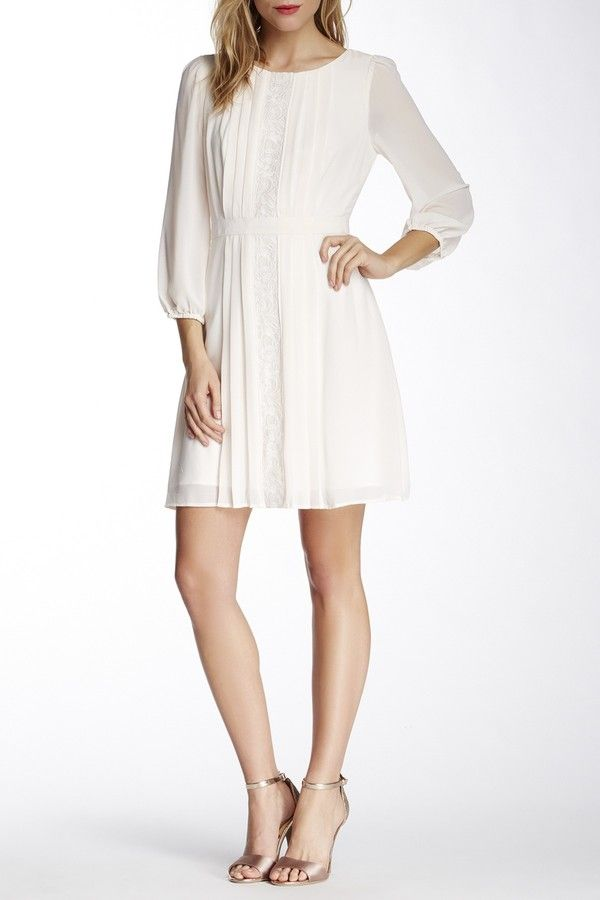 afcadeb2efdf0 Long sleeve embroidered white dress