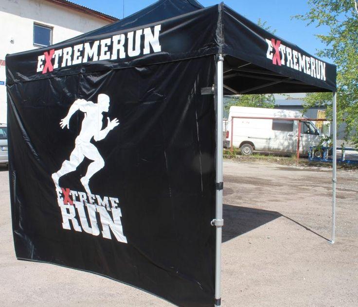 3x3m popup telk logoga: ExtremeRun - http://stereomeedia.com/popup-telgid/3x3m-pop-up-telk/