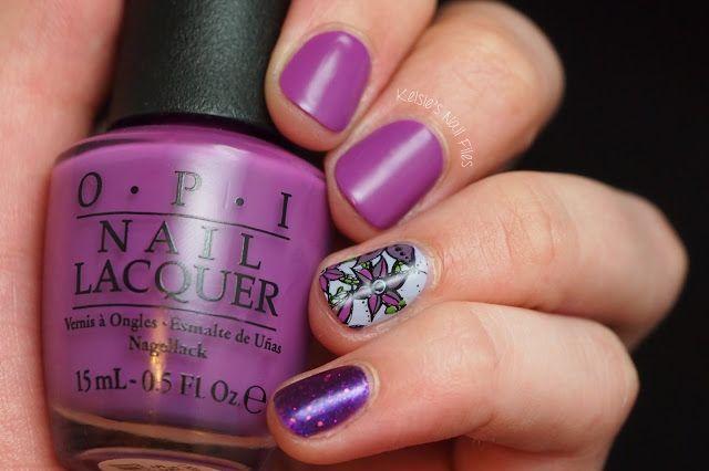 #kelsiesnailfiles #31DC2016 Violet Nails