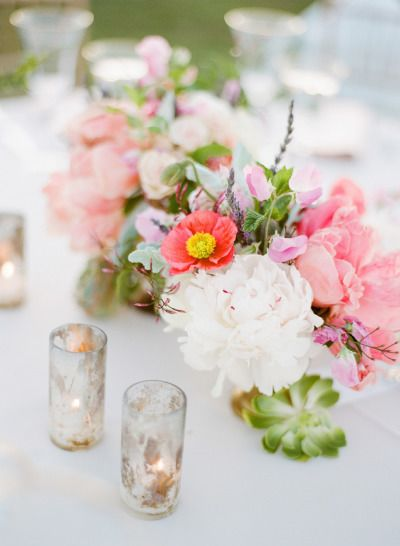 Sweet and subtle flowers: http://www.stylemepretty.com/2015/05/22/romantic-california-estate-cultural-wedding/   Photography: Josh Gruetzmacher - http://www.joshgruetzmacher.com/