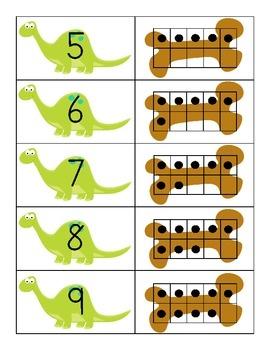 Dinosaur Theme Ten Frames