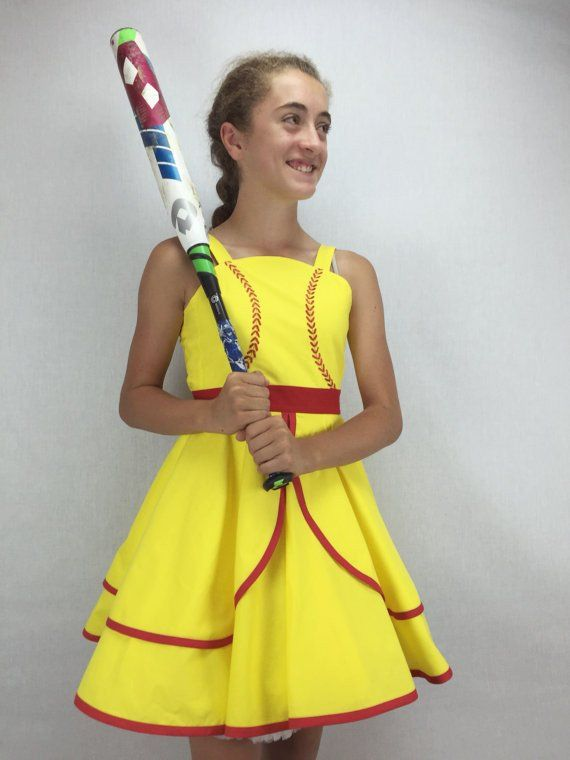 Fast Pitch Softball Inspired Girl's Dress