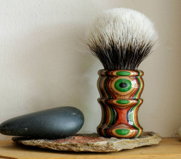 Shaving Brush - Dakota Dymnodwood Handle Hand-Made with Two Band Finest Badger Knot by LoveYourShave on Etsy