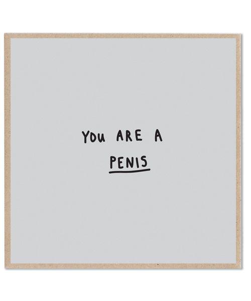 Lazy Oaf   Penis Card
