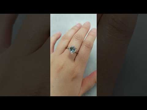 (1) Forever One Moissanite Round 4 Prong Solitaire Engagement Ring - Solid 14kt White Gold - YouTube