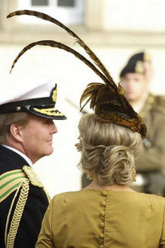 TRH Prince Willem-Alexander and Princess Maxima of Netherlands (hair detail)