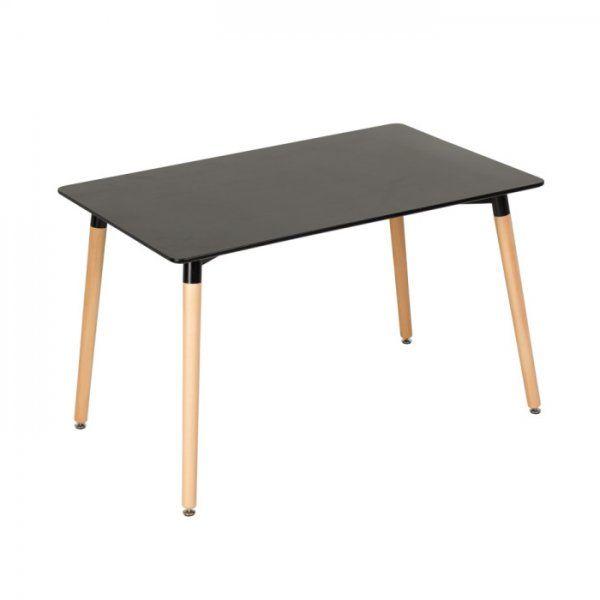 Черна правоъгълна трапезна маса в скандинавски стил / #обзавеждане #мебели #furnituredesign #scandistyle