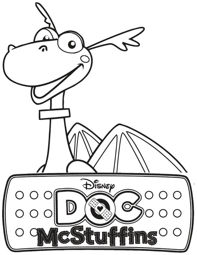 find this pin and more on maddox 2nd birthday doc mcstuffins stuffy the dragon coloring page