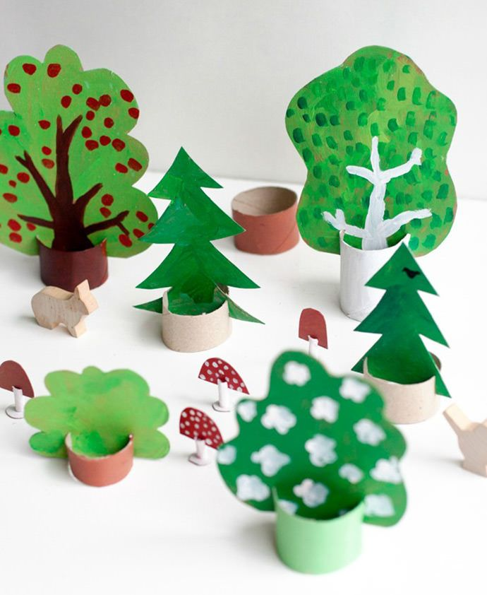 6 Ways to Get Creative with Cardboard - Pippi Longstocking house and toilet roll window forest!