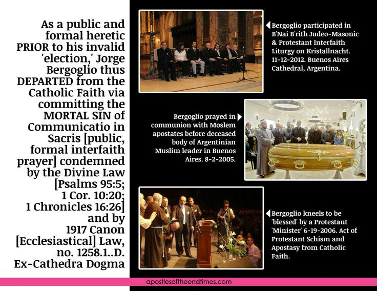Bergoglio cannot be the pope since he was a heretic prior his invalid 'election'. Heretics ARE outside the Church.