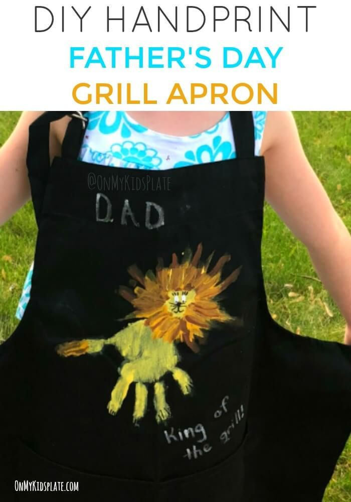 6ac979c1e This easy DIY handprint craft from kid is a great gift for Father's Day for  any dad or Grandpa who loves to grill. Dad will love this simple cute gift.