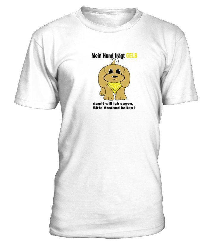 """Dieses T - Shirt soll das Projekt """"Gelber Hund"""" unterstützen. Es gibt immer noch viele Hundebesitzer die noch nicht wissen was es bedeutet, wenn ein Hund ein gelbes Halstuch trägt, oder eine gelbe Schleife an der Leine befestigt hat. Wer diese Message gern weiter verbreiten möchte, kann dieses T - Shirt erwerben."""