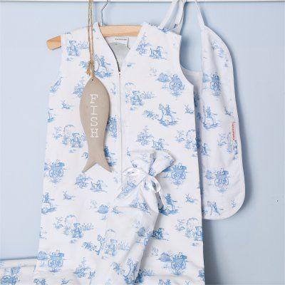 Cottonbaby toile slaapzak flanel lichtblauwe beer uit de online shop van Babyaccessoires.eu