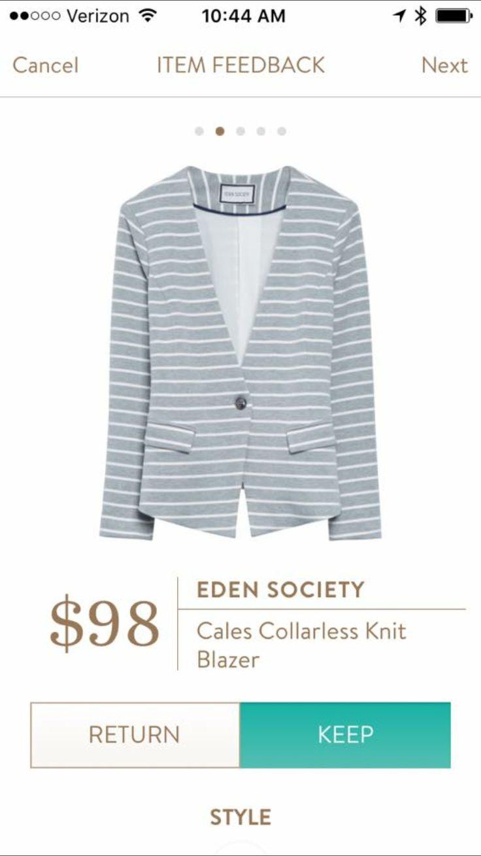 Eden Society Cales Collarless Knit Blazer