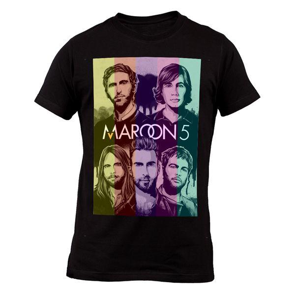 http://www.bonanza.com/listings/Maroon-5-Adam-Levine-Maroon-V-Rock-Soul-Band-Maroon-Five-Men-T-Shirt/258624697
