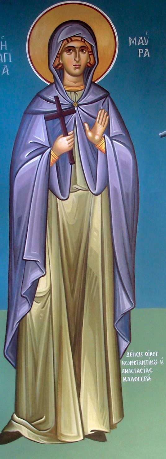 St. Maura by Maria Hatjivasiliou https://www.flickr.com/photos/agiografies/with/4035635552/