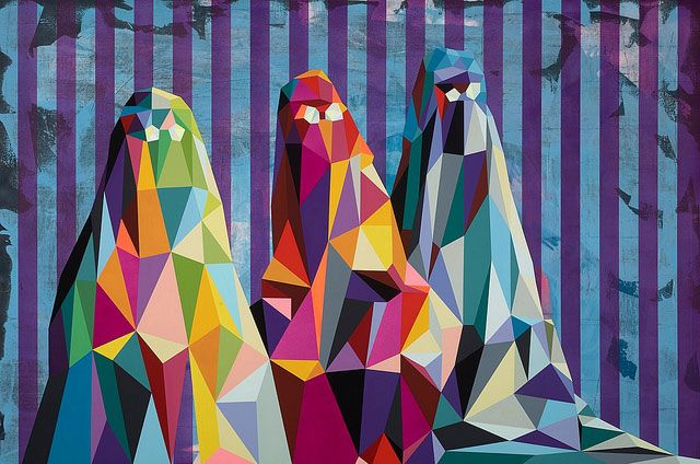 El arte frenético de Tim Biskup #artegeometrico