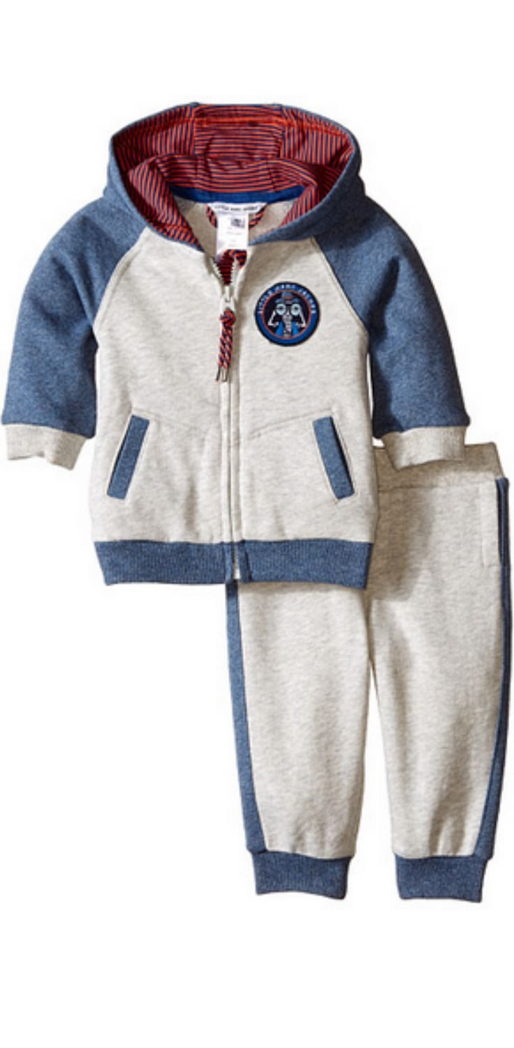 Sport a winning look. Let your boy capture the cozy charm of this #Little #MarcJacobs #Fleece #Jogging #Set. #child #children #boy #apparel #clothing