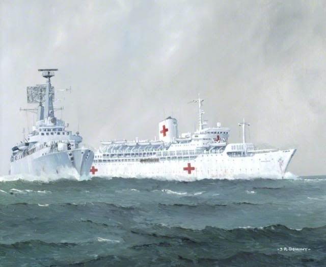 SS 'Uganda' and HMS 'Antrim' BFD