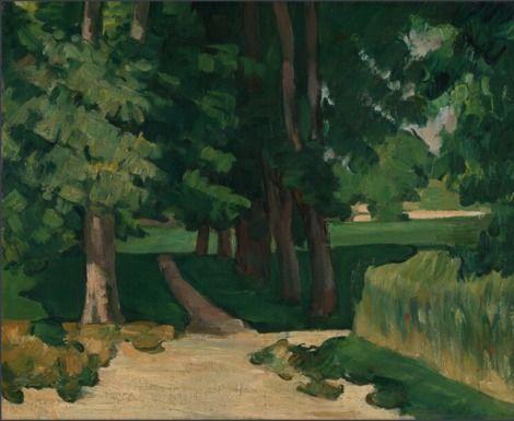 Paul Cézanne, The Avenue at the Jas de Bouffan on ArtStack #paul-cezanne #art