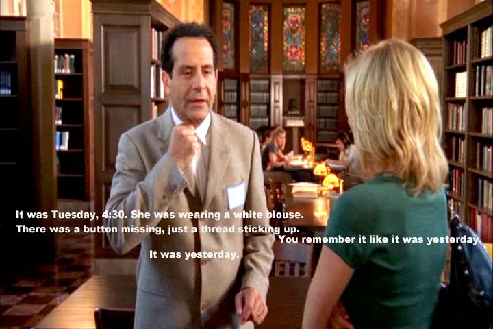 Trudy and Adrian Monk is my favorite Hollywood made love story. It is perfection.