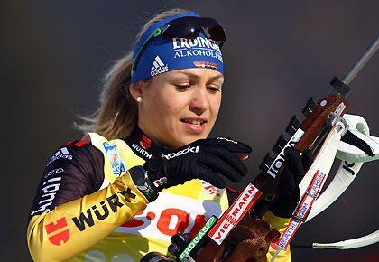 Magdalena Neuner   Neuner, Magdalena Neuner, Biathlon-WM, Ruhpolding, Berger