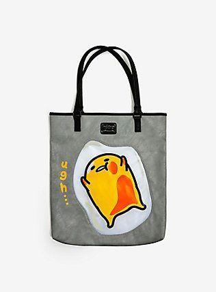 Loungefly Gudetama Grey Tote Bag,