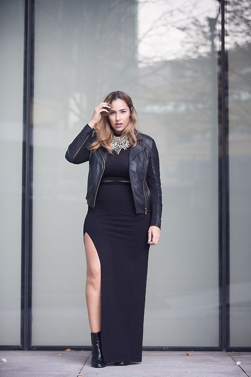 The sexy aspect of stylish plus size girls. If you want to go total black and make a fashion statement, wear a maxi black dress or skirt and cropped top that reveals your leg, black biker boots, a leather jacket… Continue Reading →