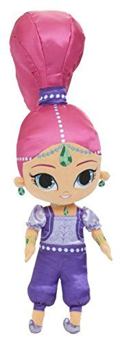 Your favorite Shimmer and Shine character Shimmer in a 22' Cuddle Pillow is perfect for TV Time Nap Time or to decorate your Shimmer and Shine room. Appliqued and embroidered details and in her favor...