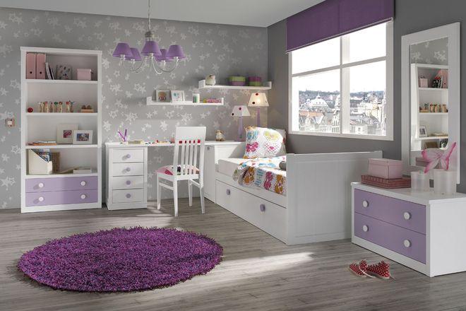 Dormitorios juveniles en blanco con un estilo moderno y - Dormitorios juveniles blancos ...