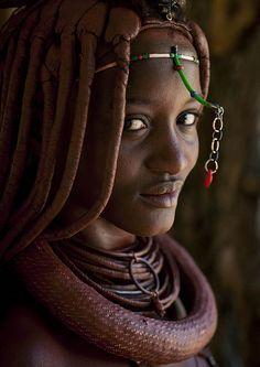 woman from himba tribe, angola.