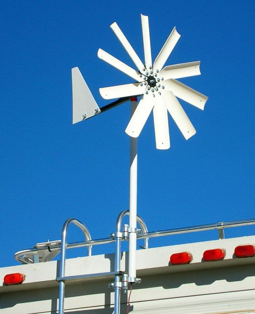 Wind Generator for a Camper by Free Spirit Energy,  Truck Camper MagazineEnergy Wind, Campers Wind, Turbine, Free Spirit 250 Ladders Mount, Trickle Charging, Charging Battery, Spirit Energy, Campers Magazines, Trucks Campers