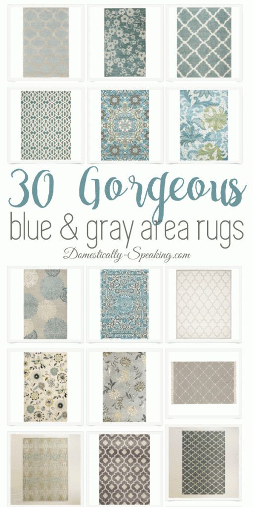 30 Beautiful Blue and Gray Large Area Rugs for your home. If you love traditional, coastal look you'll love these