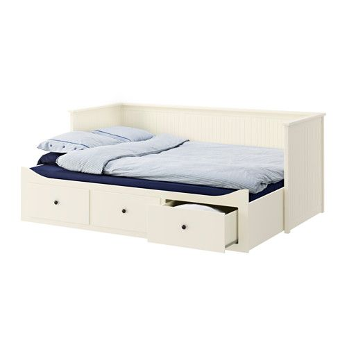 HEMNES Day-bed w 3 drawers/2 mattresses, white, Malfors medium firm white/Malfors medium firm 80x200 cm