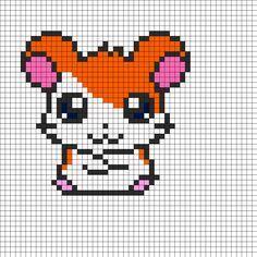 Hamtaro Perler Bead Pattern   Bead Sprites   Characters Fuse Bead Patterns