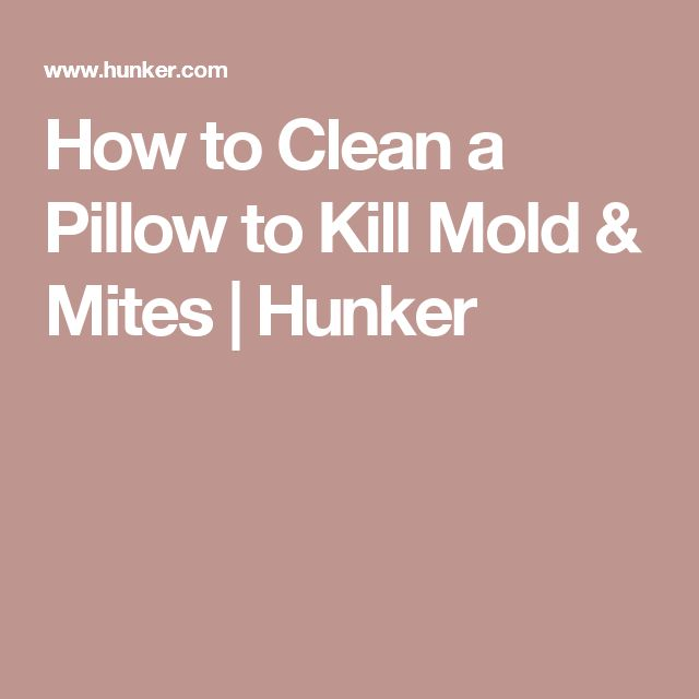 How to Clean a Pillow to Kill Mold & Mites | Hunker