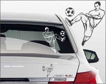 Fußballspieler Aufkleber fürs Auto