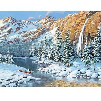 Beautiful Winter Snow Embroidery 5D Diamond DIY Painting Paste Stitch Home Decor