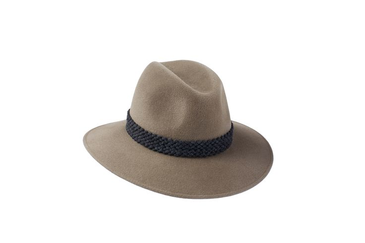 The Willow Fedora Collection | Mink | Grey Wool Braid Band www.penmayne.com #fedora #hats #accessories