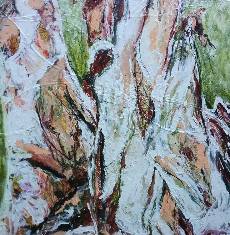 """""""At Home with my Paper Bark Tree"""" by Debra Dougherty. Paintings for Sale. Bluethumb - Online Art Gallery"""