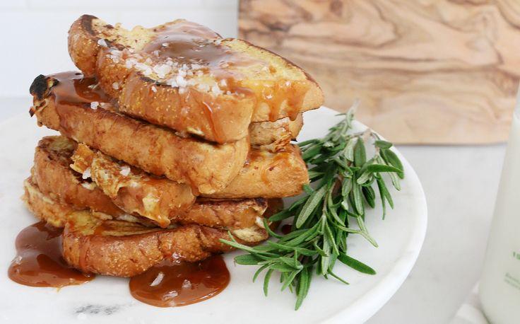Caramel Sea Salt Morning Toast - Say good morning the Italian way!