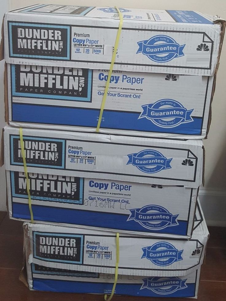 """dunder mifflin copy paper Ensure your employees have the best materials at their disposal by stocking your office up with some """"high quabity"""" dunder mifflin copy paper this."""