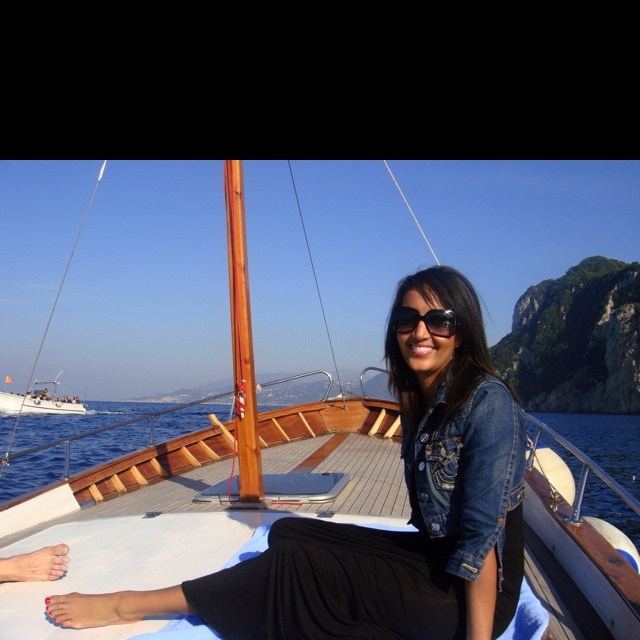 On the water in Capri, Italy. One of my favorite places in the world!
