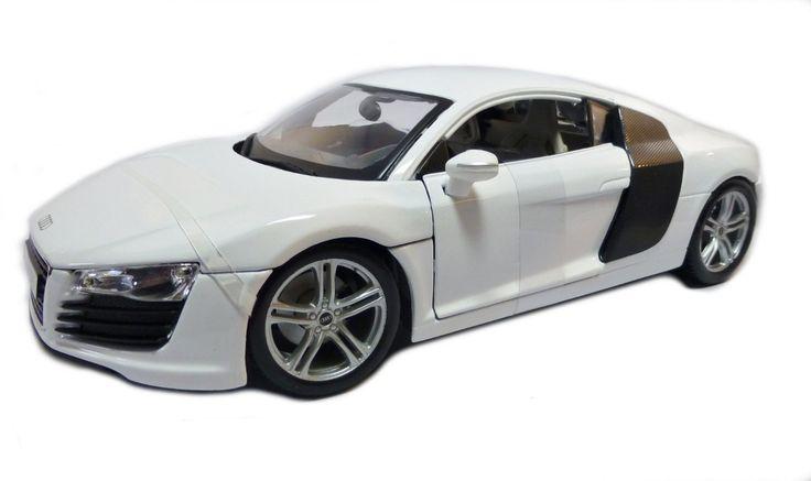 Maisto Premiere Edition - Audi R8 Model Car 1:18 - White (36143)  Manufacturer: Maisto Enarxis Code: 018073 #toys #Maisto #miniature #cars #Audi