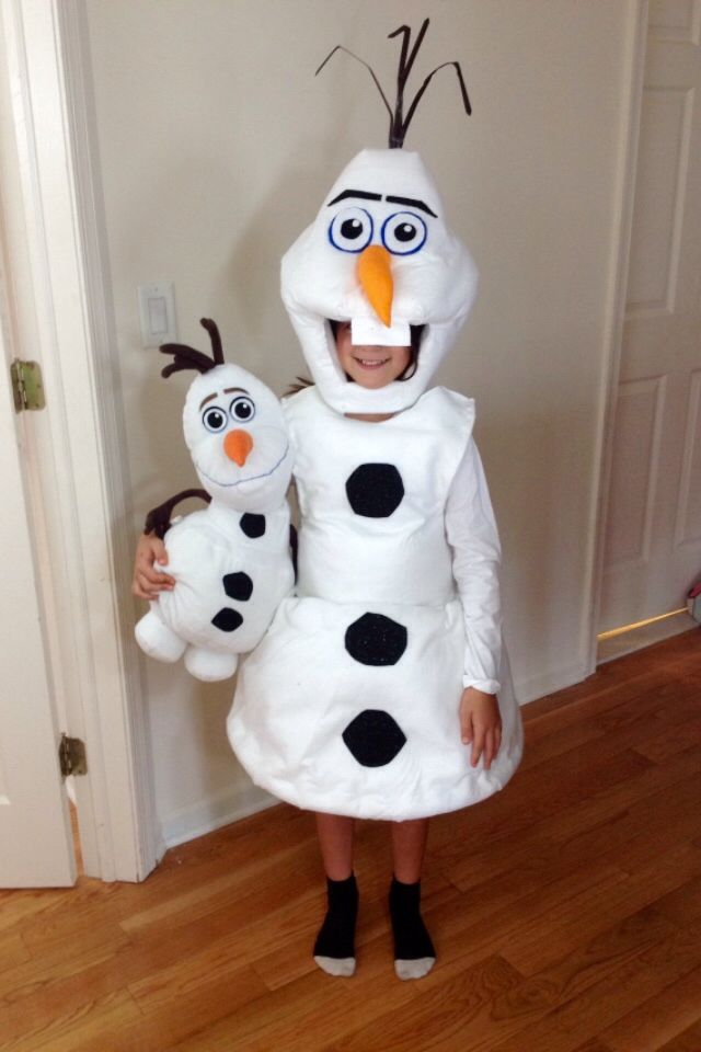 Olaf costume so far! Just feet and twigs to go