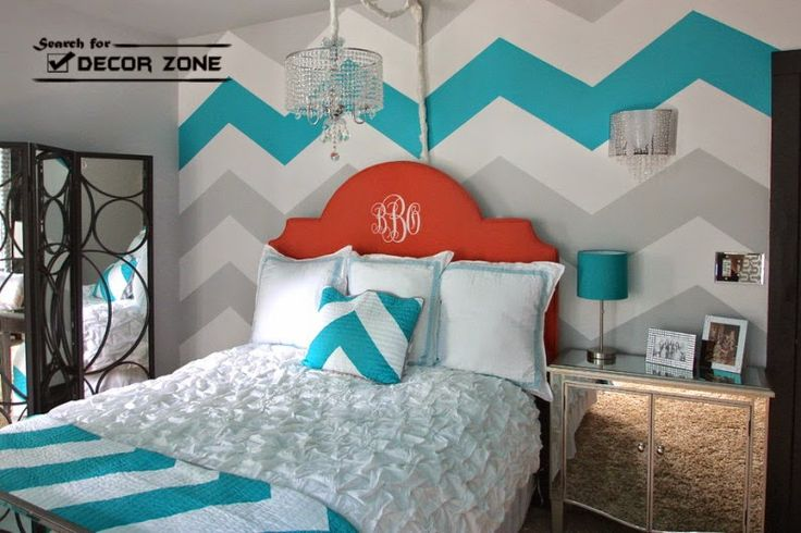 zigzag wall painting techniques or bedroom walls
