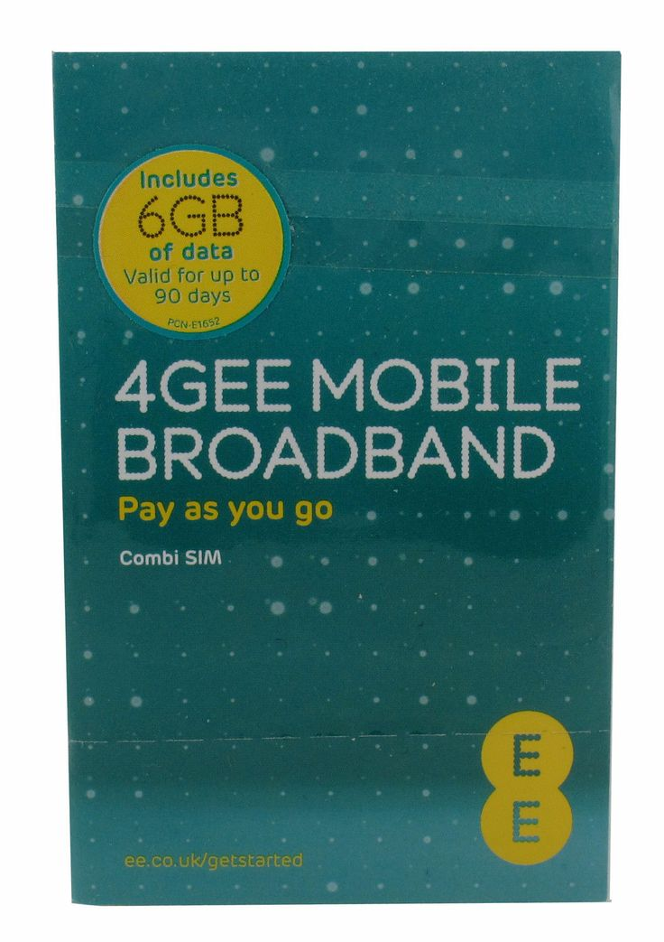 16 42 Ee 4g 3g Payg Data Sim Card 6gb Included Ideal For