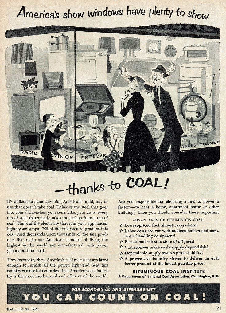 You Can Count On Coal! Bituminous Coal Institute, 1952